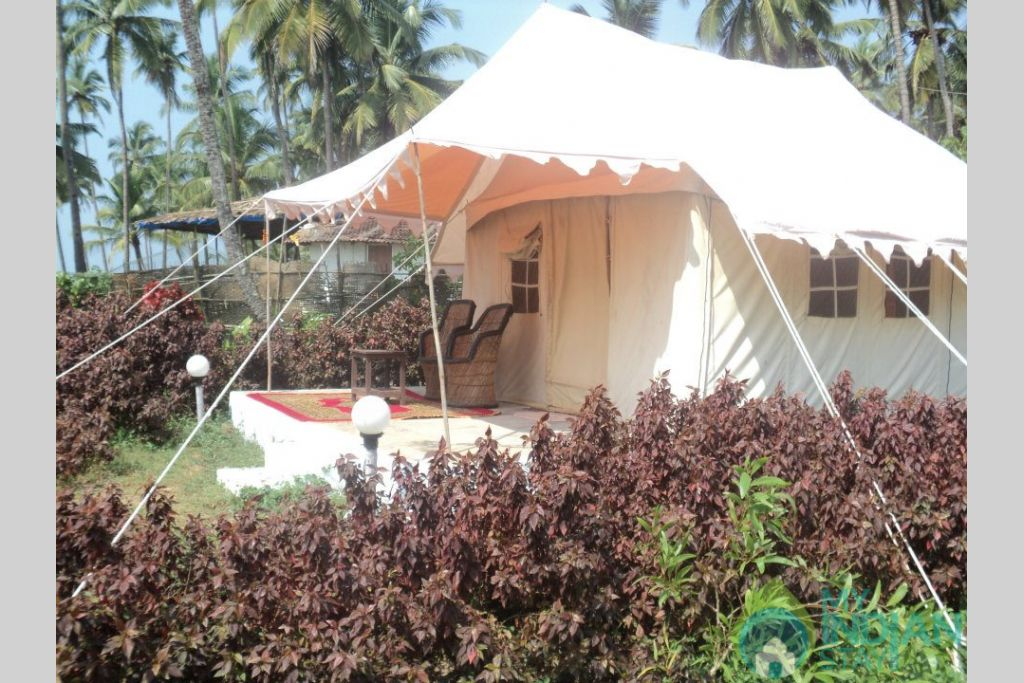 Front View in a Tents in Anjuna, Goa