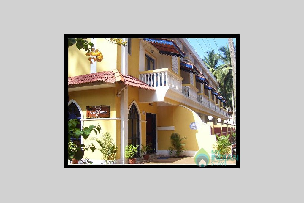 front view in a Guest House in Calangute, Goa