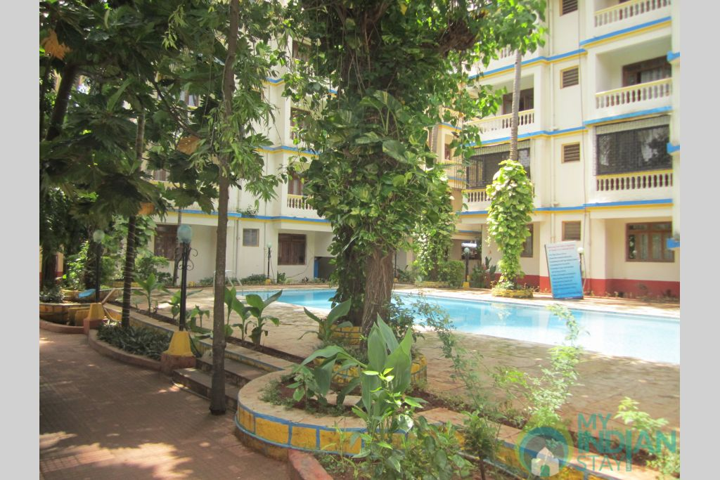 Pool View in a Resort in Calangute, Goa