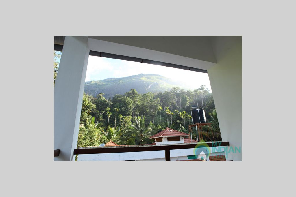 View from Balcony in a Bed & Breakfast in Munnar, Kerala