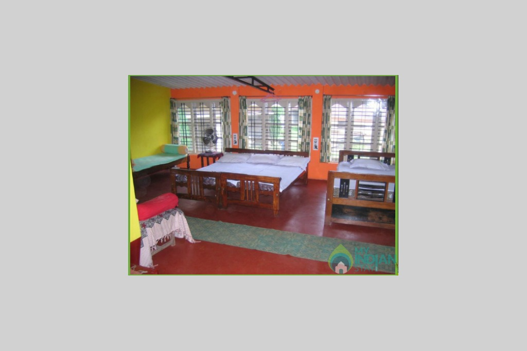 Bedroom in a HomeStay in Chikmagalur, Karnataka
