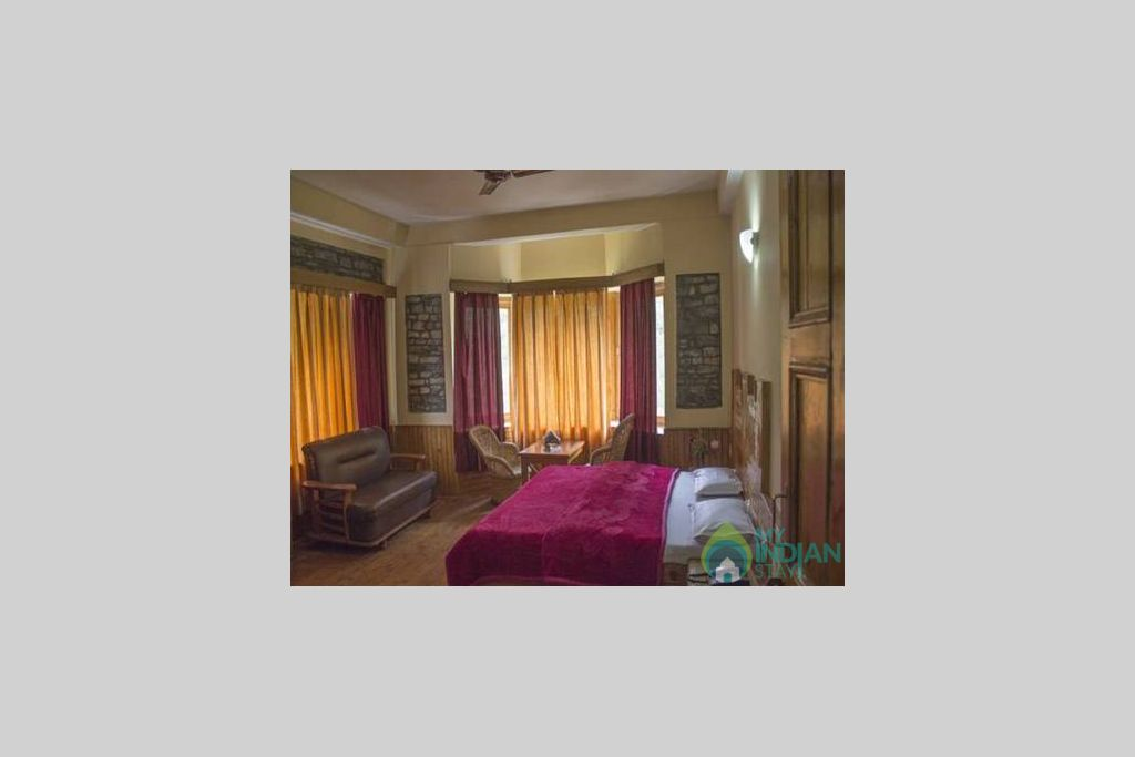 Triple bed in a Guest House in Kasol, Himachal Pradesh