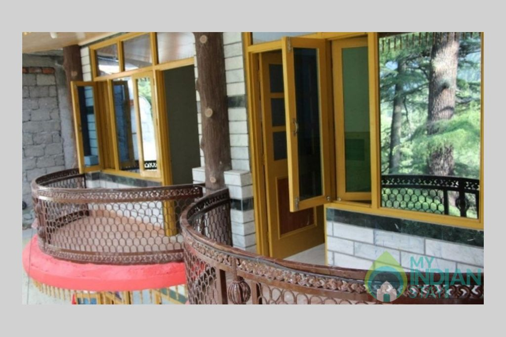 Balcony in a Guest House in Kasol, Himachal Pradesh