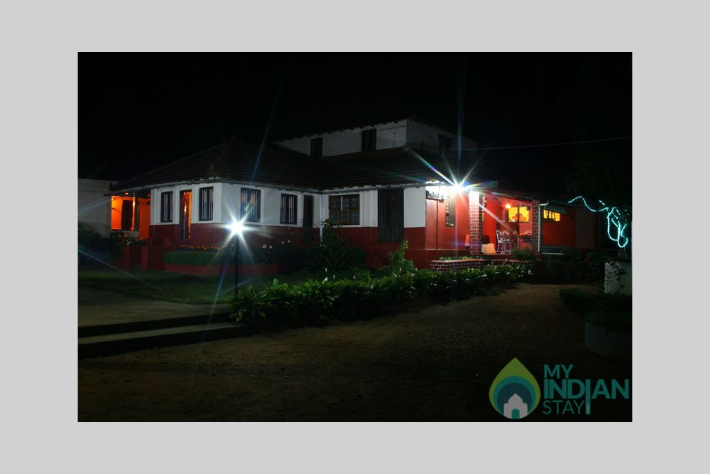 outdoor_night_house in a Bed & Breakfast in Madikeri, Karnataka