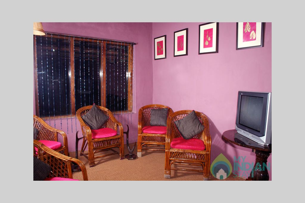 tv_room in a Bed & Breakfast in Madikeri, Karnataka