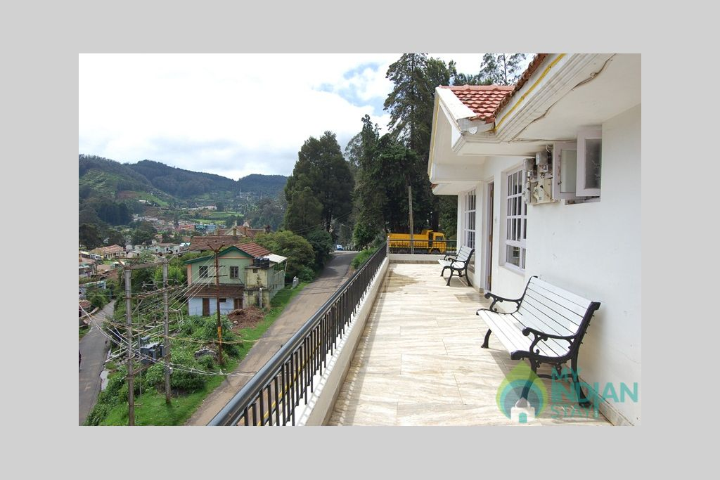 Balcony Viwe in a Cottage/Huts in Ooty, Tamil Nadu