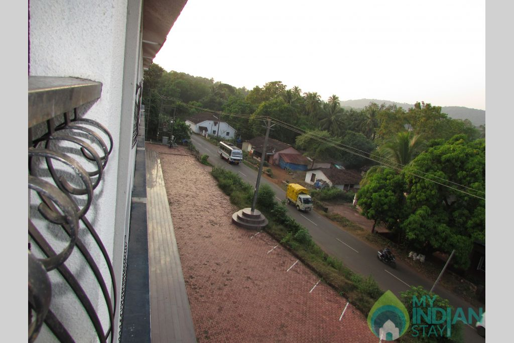 View from the balcony in a Serviced Apartment in Siolim, Goa