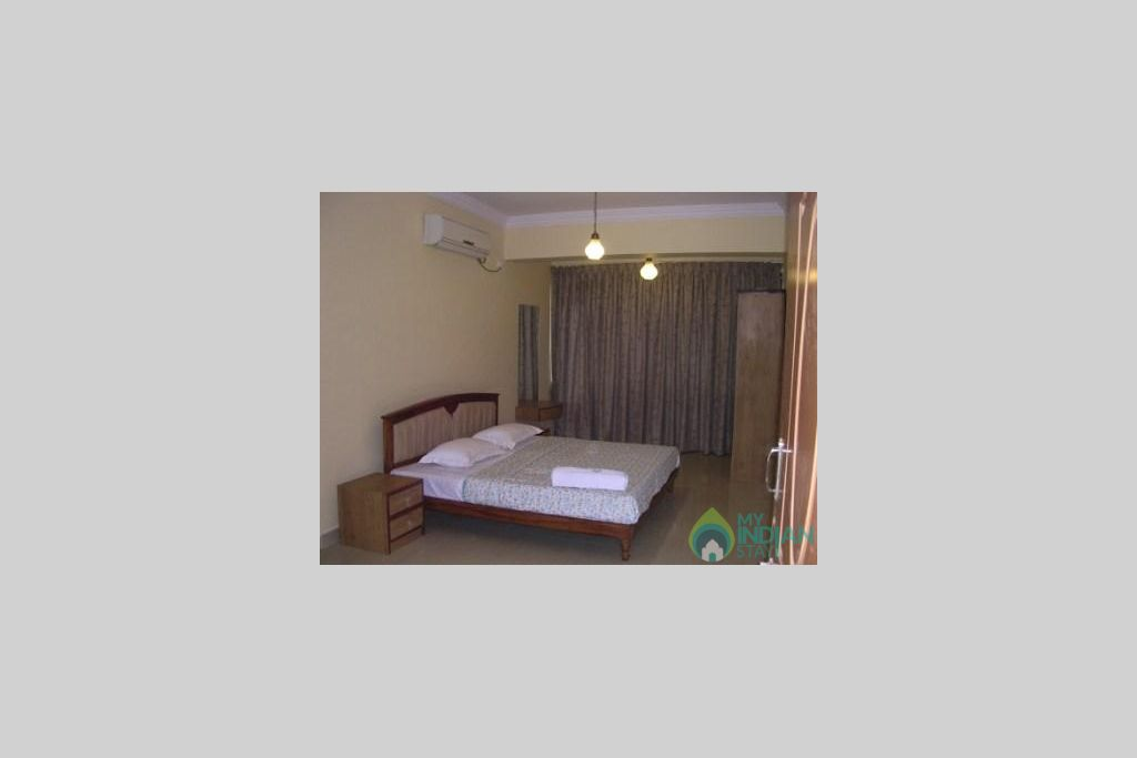 Bedroom in a Serviced Apartment in Vagator, Goa