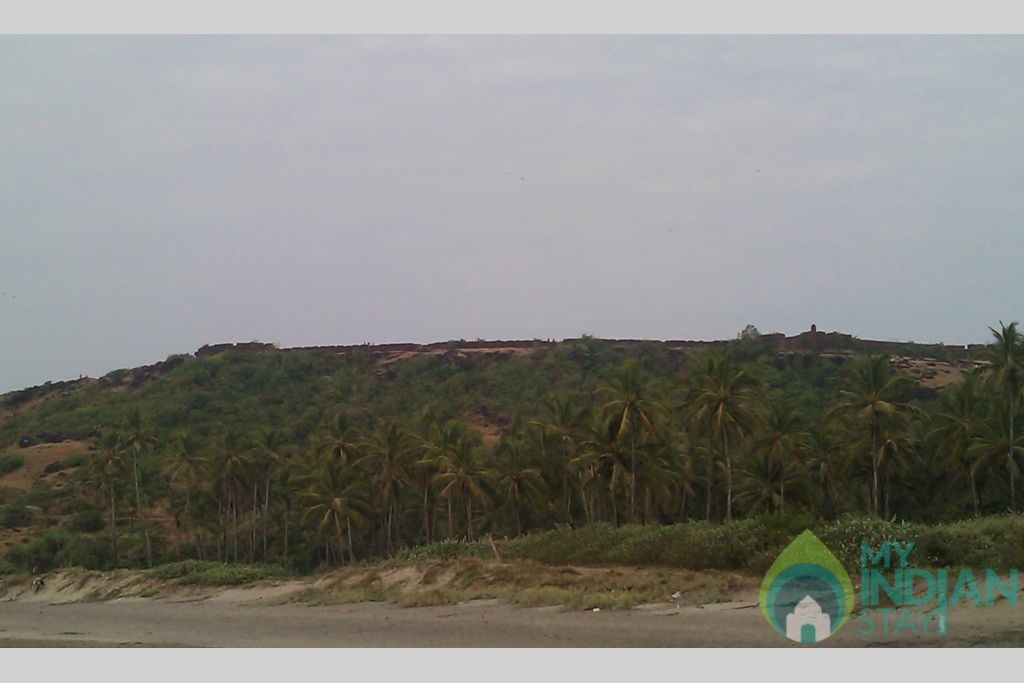 Clear view of chapora from Vagator Beach in a Serviced Apartment in Vagator, Goa