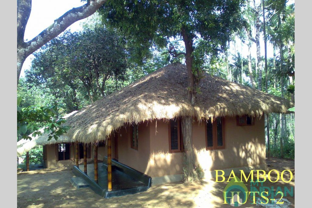 11-BAMBOO HUTS  (2Nos) in a Resort in Kenichira, Kerala