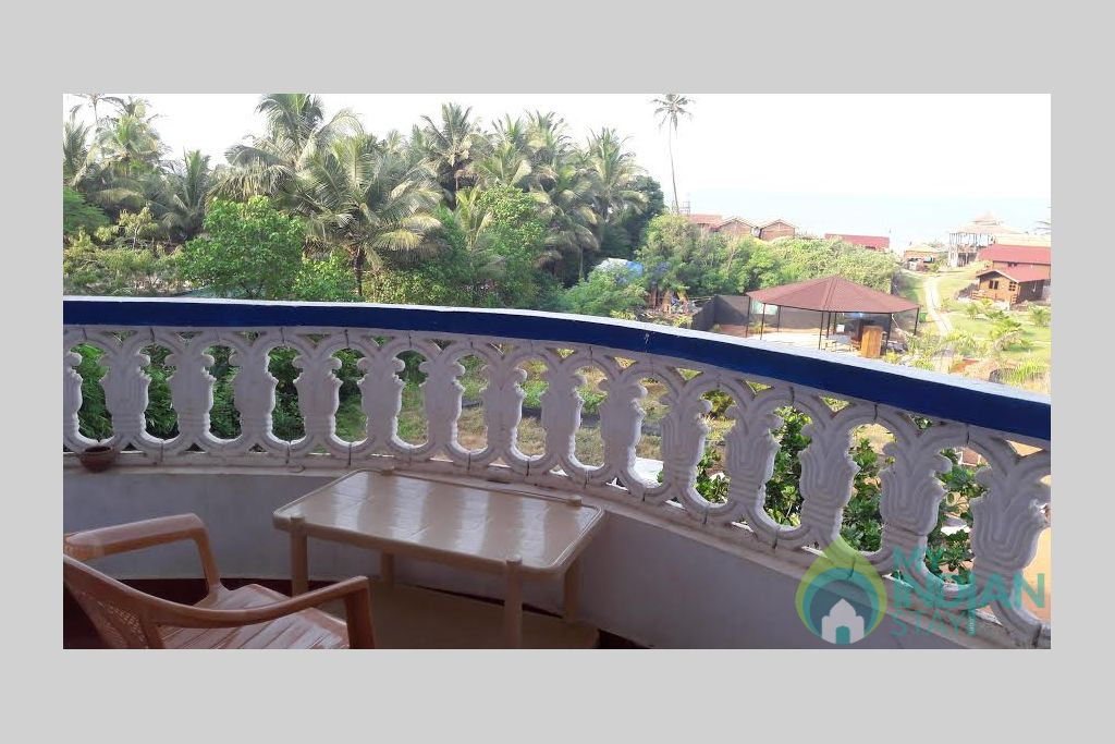 view from balcony in a Guest House in Arambol, Goa