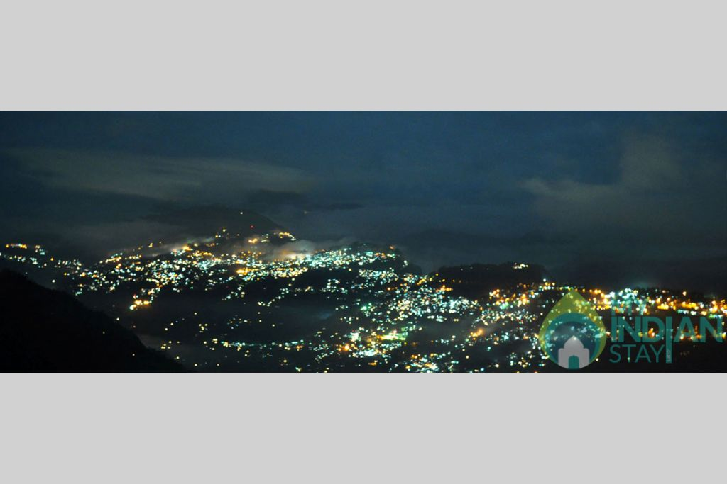 night view from hotel in a Bed & Breakfast in Gangtok, Sikkim