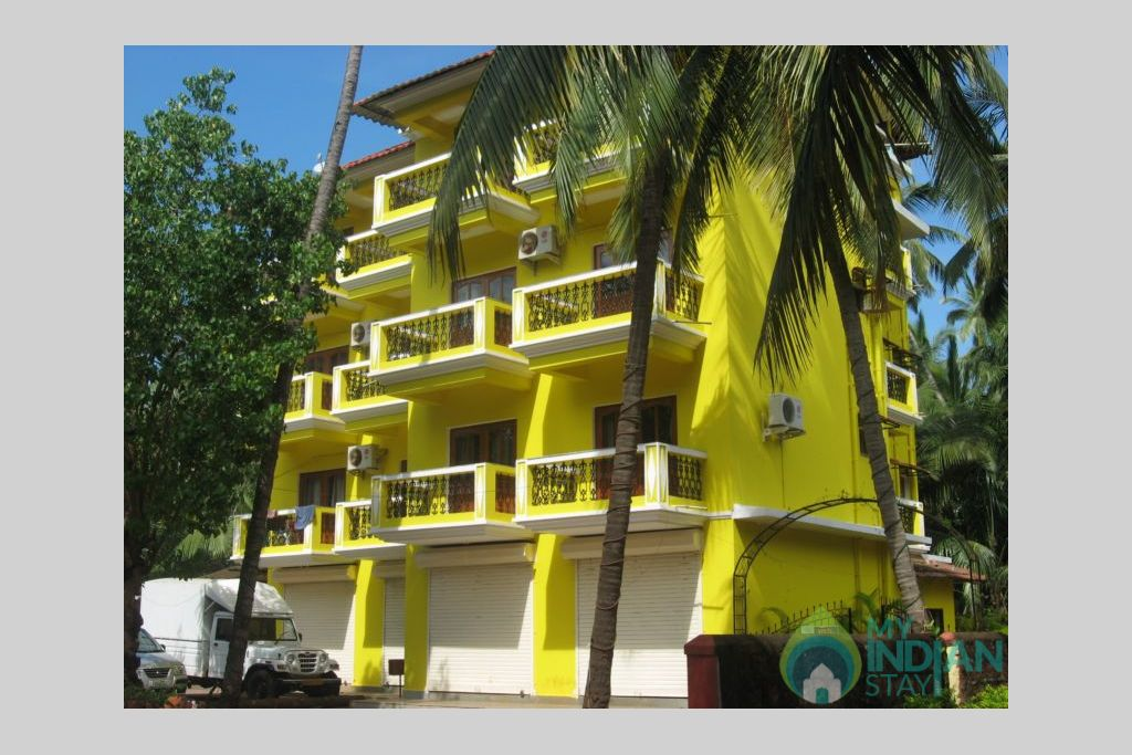 close view Residency in a Serviced Apartment in Calangute, Goa