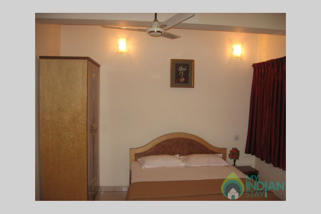 Bedroom in a Serviced Apartment in Calangute, Goa