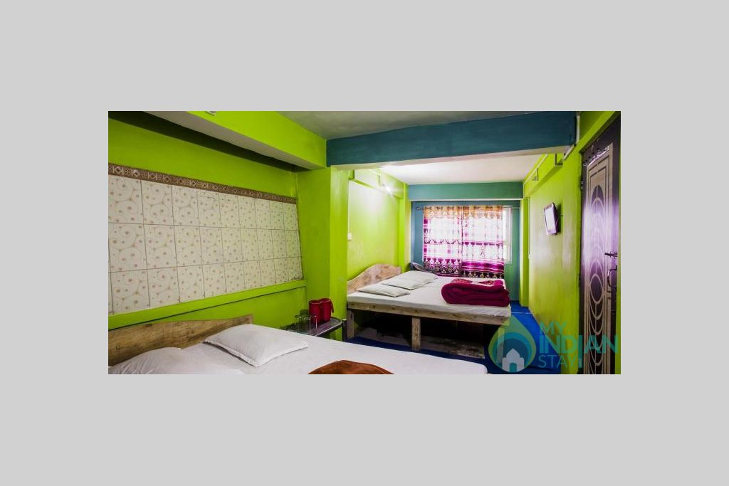 SEVEN BEDDED ROOM in a Hotel in Darjeeling, West Bengal