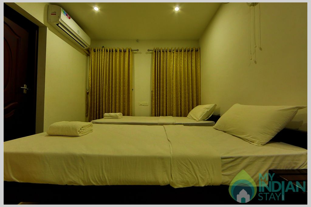 apartment bedroom  -2 in a Serviced Apartment in Angamaly, Kerala