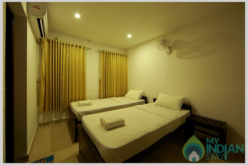 apt bedroom 2 in a Serviced Apartment in Angamaly, Kerala