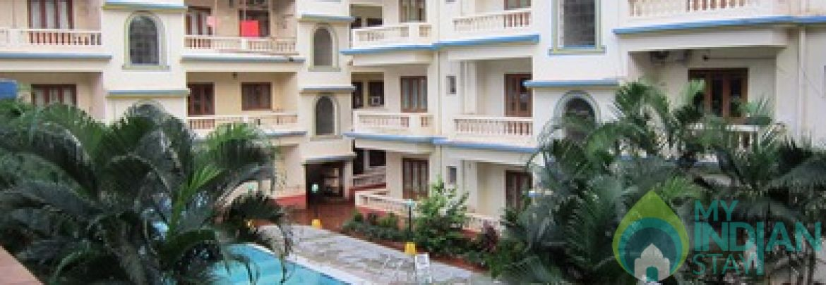1 bhk for rent in a resort in calangute