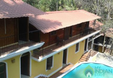 A/C Standard Rooms with  Swimming Pool In a Guest House in Palolem