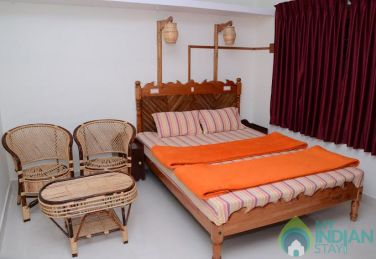 Double bedded room with attached bathroom, Kerala