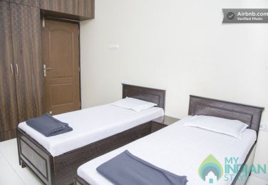 Furnished Rooms in a Self Contained 3 BHK Serviced Apartment in Goregaon