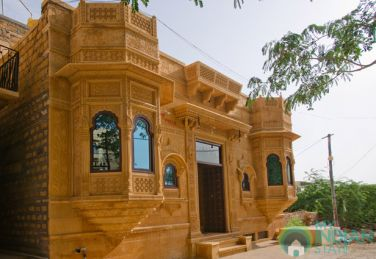 Single AC Rooms In Villa With Golden Stone Carving Jaisalmer