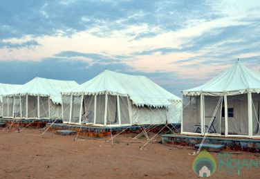 Swiss Tents In a resort in Jaisalmer