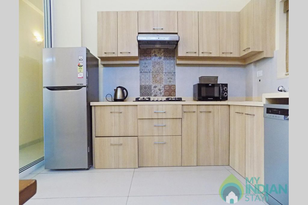 5 CasaMelhor Candolim Kitchen in a Serviced Apartment in Candolim, Goa