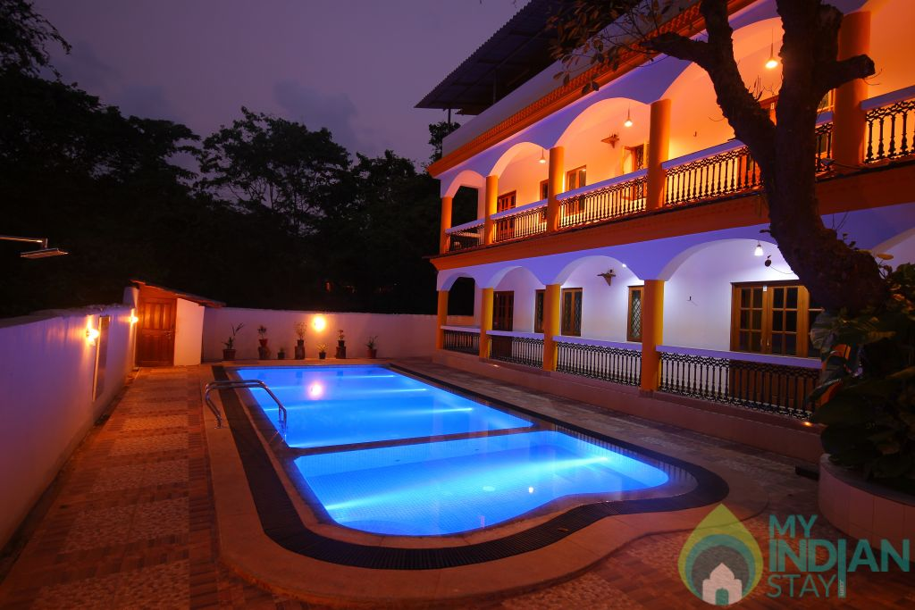Pool View in a Guest House in Candolim, Goa