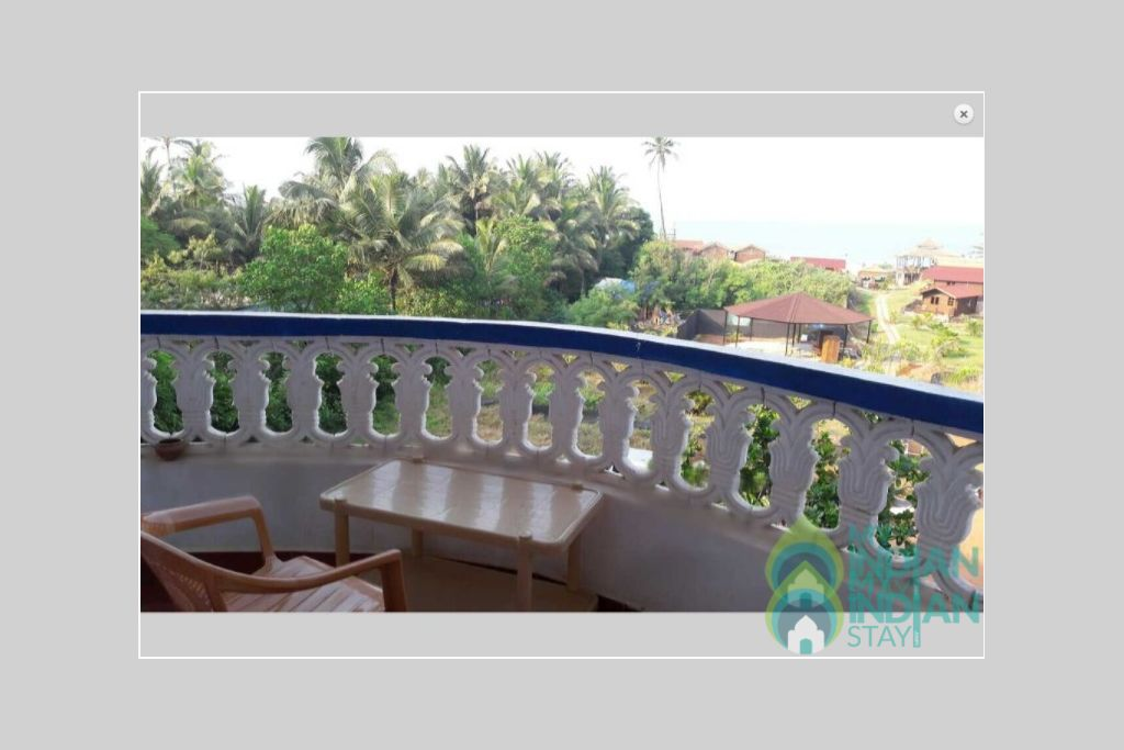 balcony in a Guest House in Arambol, Goa