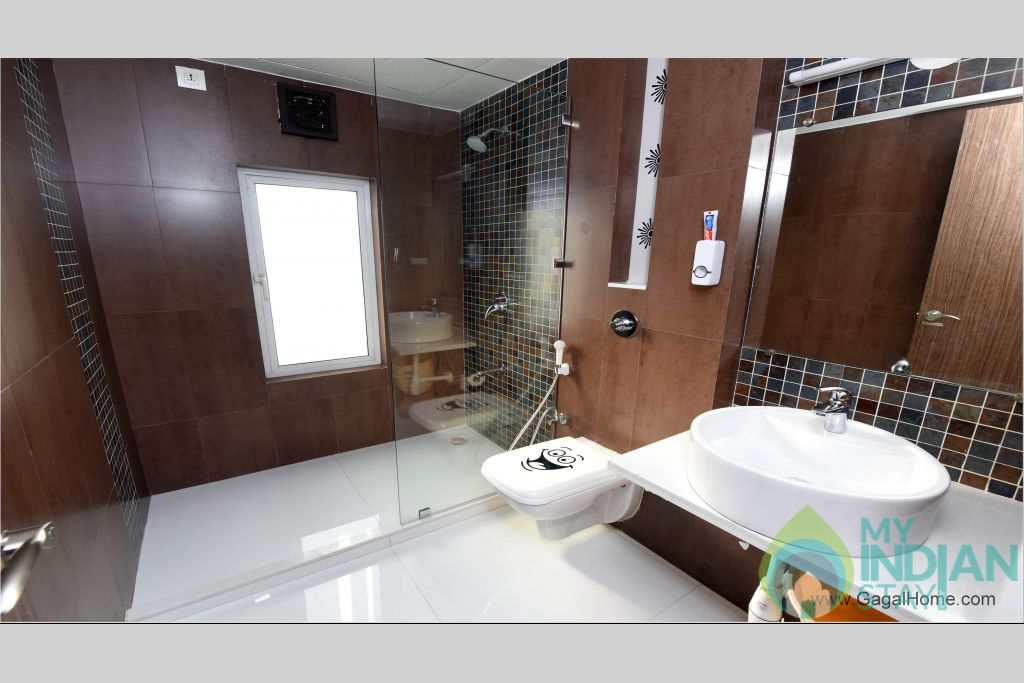 bathroom in a Serviced Apartment in ,