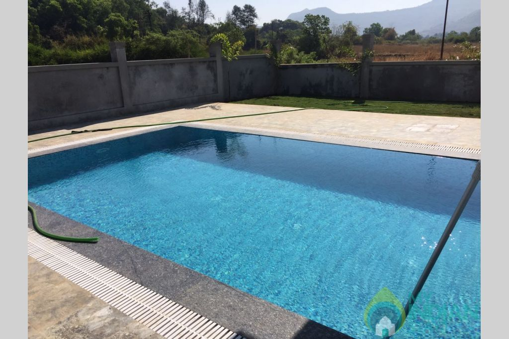 Swimming pool in a Independent Bungalow in Lonavala, Maharashtra