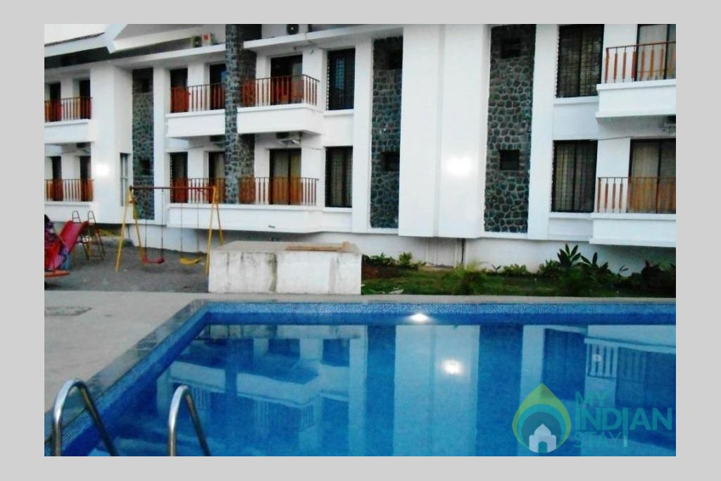 Swimming Pool in a Serviced Apartment in Lonavala, Maharashtra