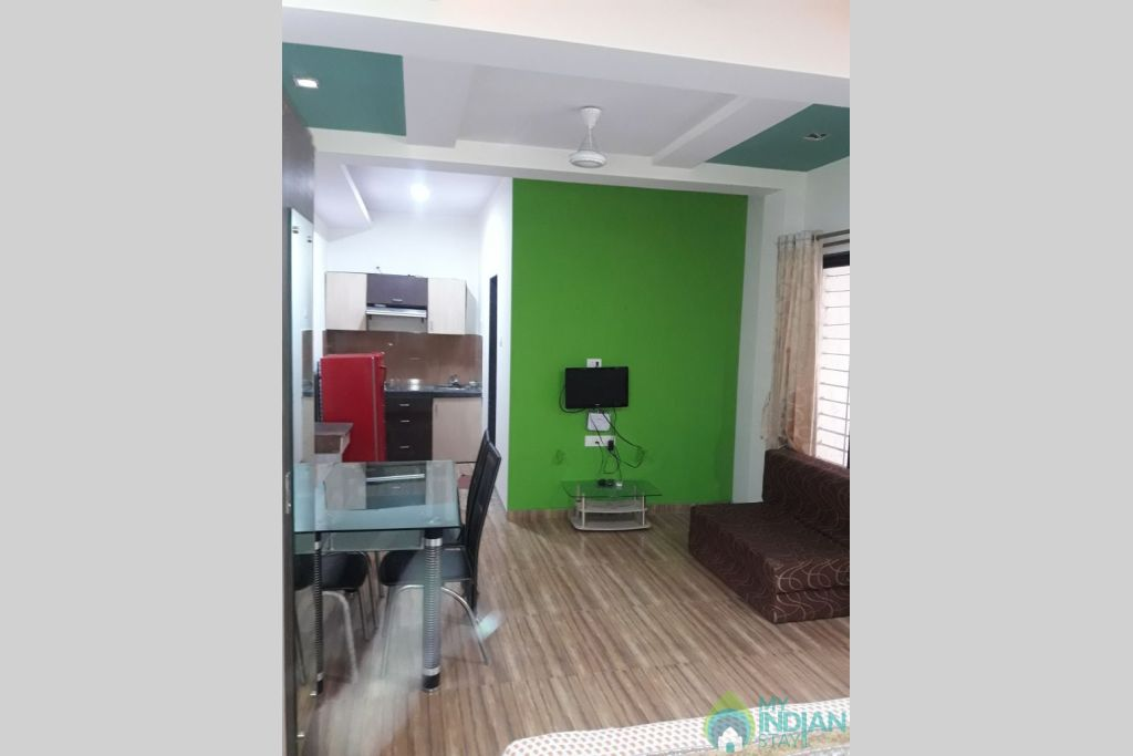 Dining & Kitchen in a Serviced Apartment in Lonavala, Maharashtra