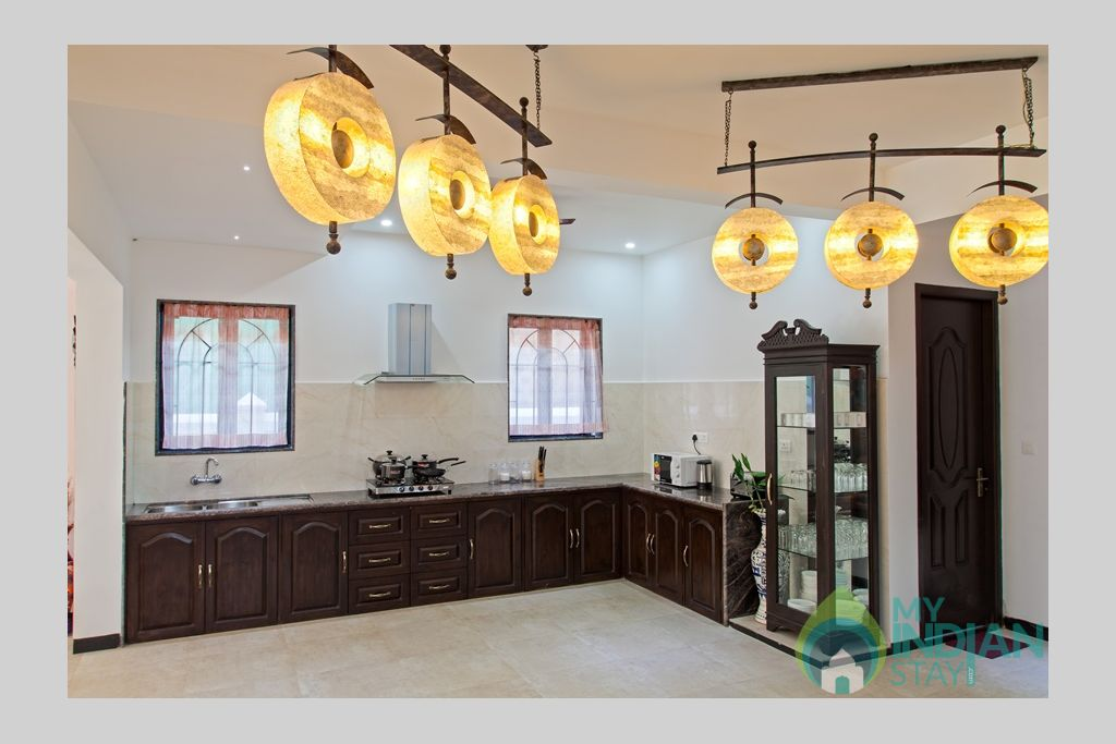 kitchen-luxury-villa in a Villa in Calangute, Goa