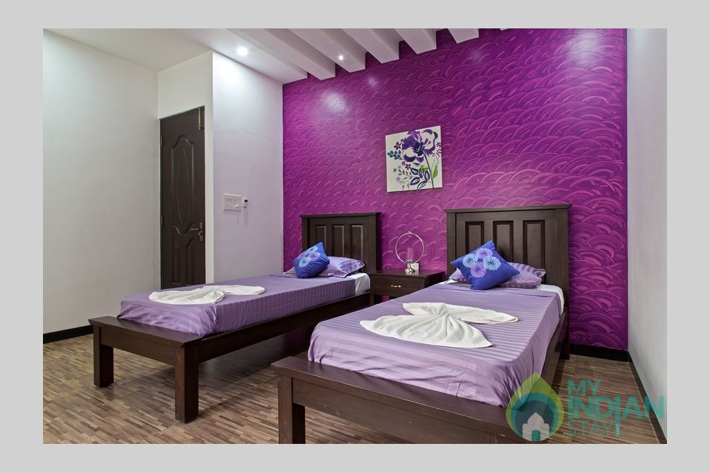spacious-bedroom in a Villa in Calangute, Goa