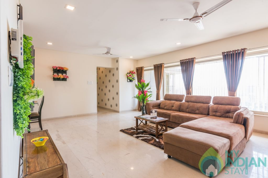 Living Room  in a Serviced Apartment in Mumbai, Maharashtra