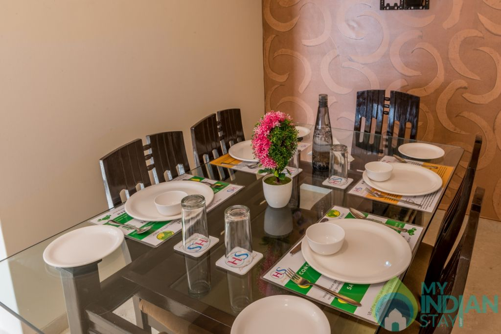 DIning Room  in a Serviced Apartment in Mumbai, Maharashtra