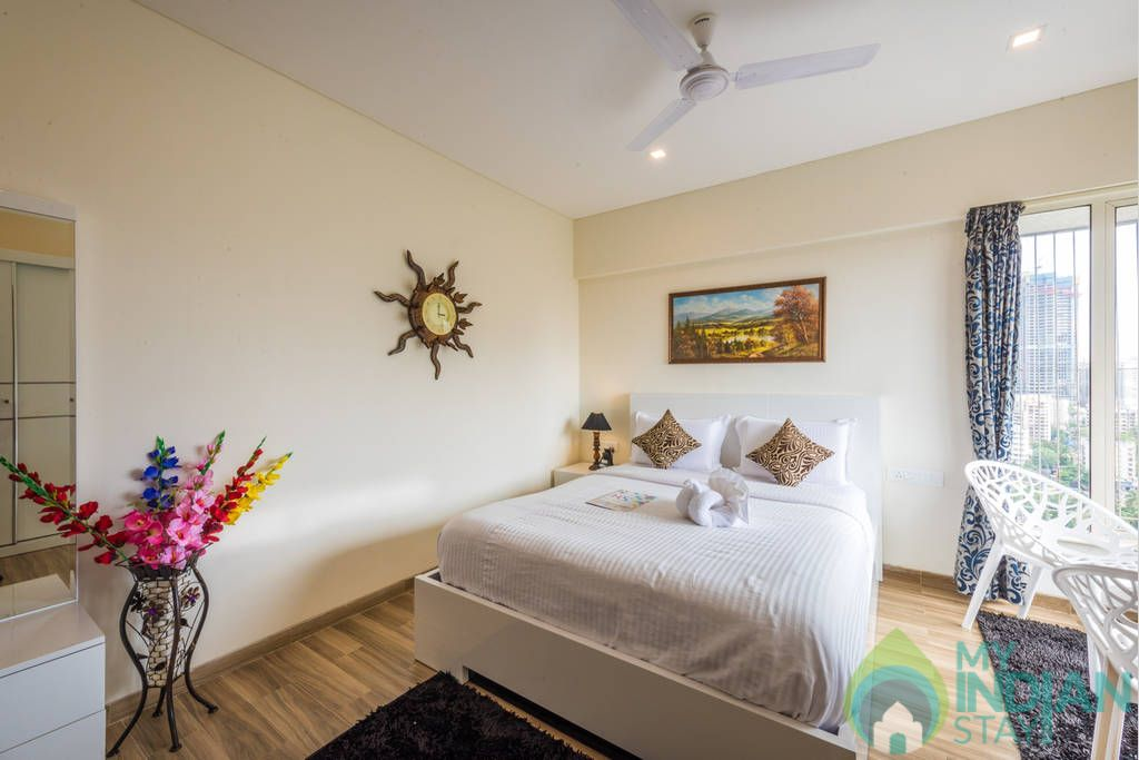 Bedroom  in a Serviced Apartment in Mumbai, Maharashtra