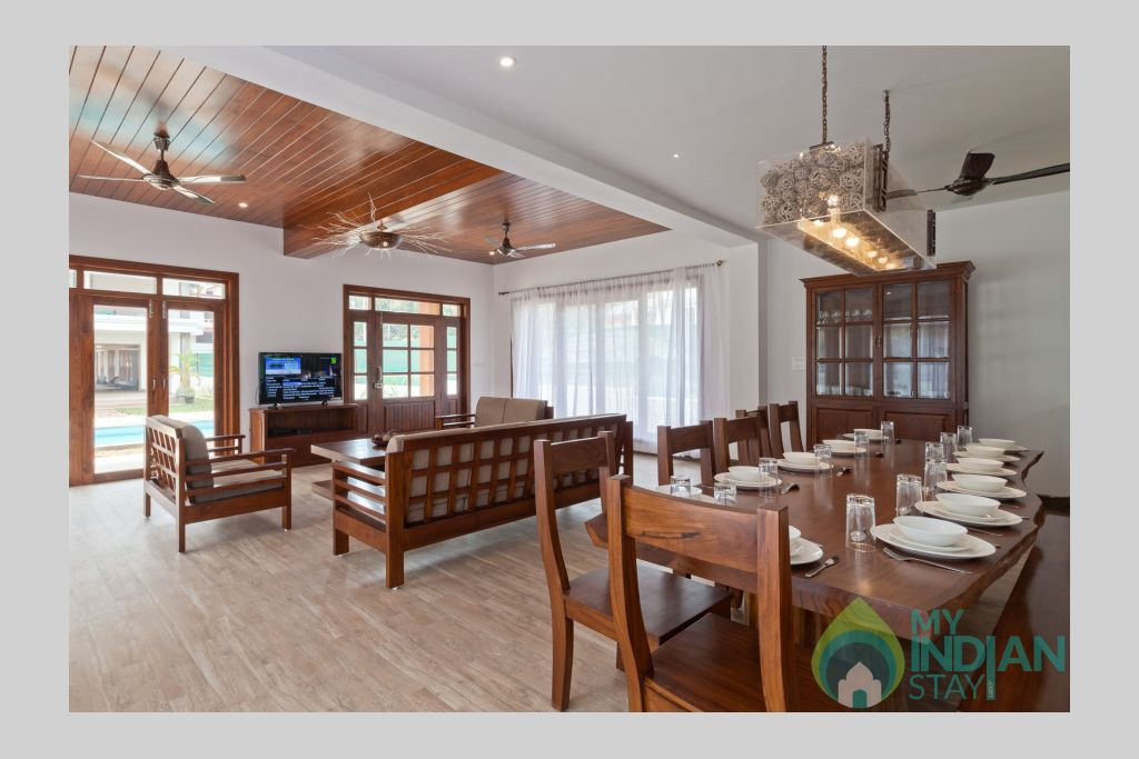 dinning-area-phase11 in a Villa in Calangute, Goa