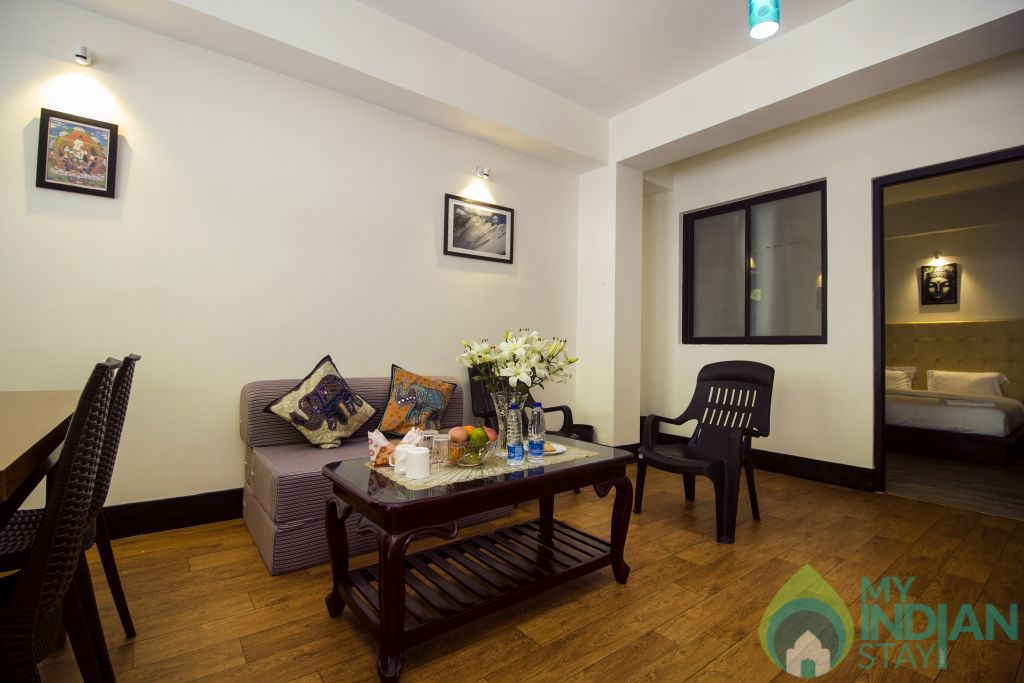 Living Area in a Serviced Apartment in Gangtok, Sikkim