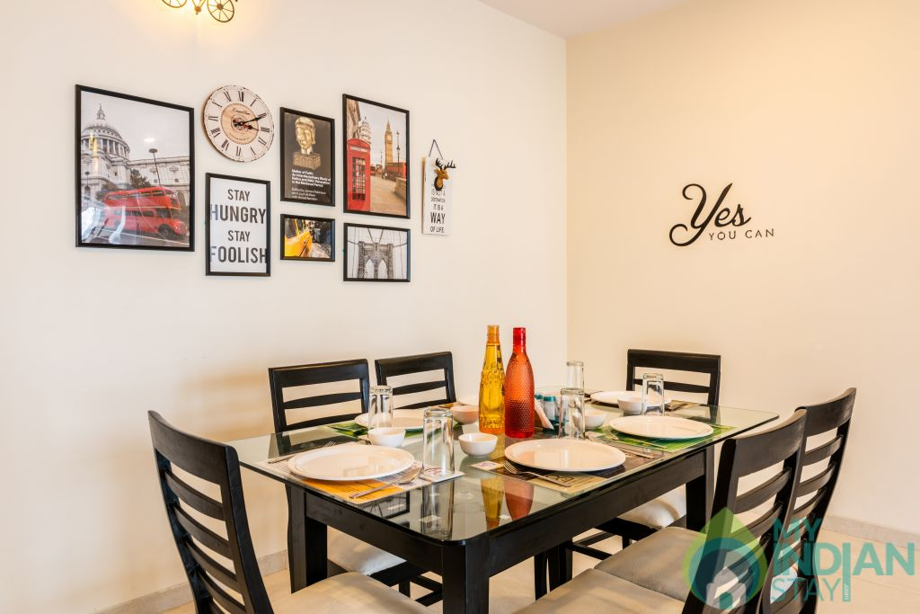 Dining Area in a Serviced Apartment in Mumbai, Maharashtra