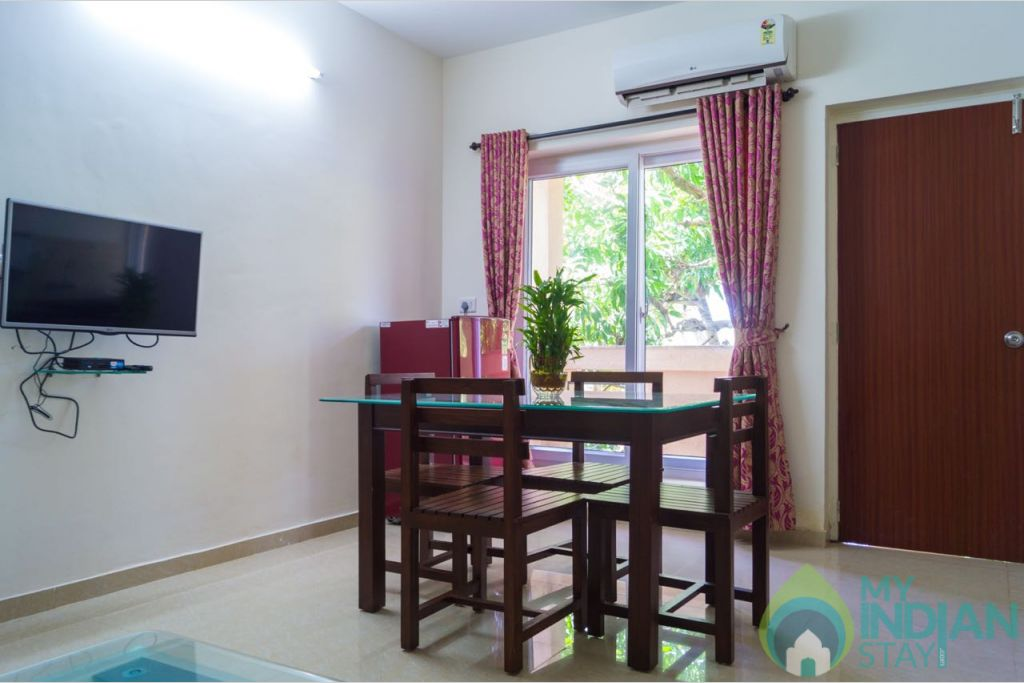 Hall in a Serviced Apartment in Calangute, Goa