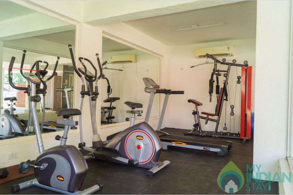 Gym in a Serviced Apartment in Calangute, Goa