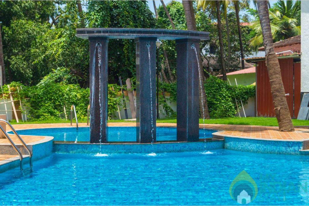 Swimming Pool  in a Serviced Apartment in Calangute, Goa