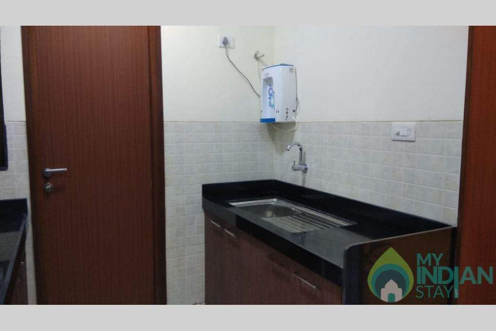 Kitchen 1 in a Self Catered Apartment in Reis Magos, Goa
