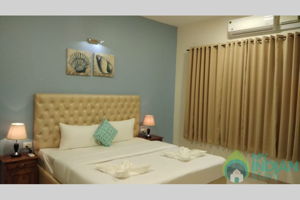 Master Bedroom 3 in a Self Catered Apartment in Reis Magos, Goa