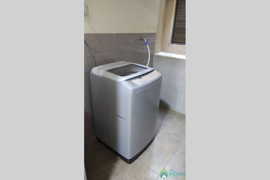 WAshing machine in a Self Catered Apartment in Reis Magos, Goa