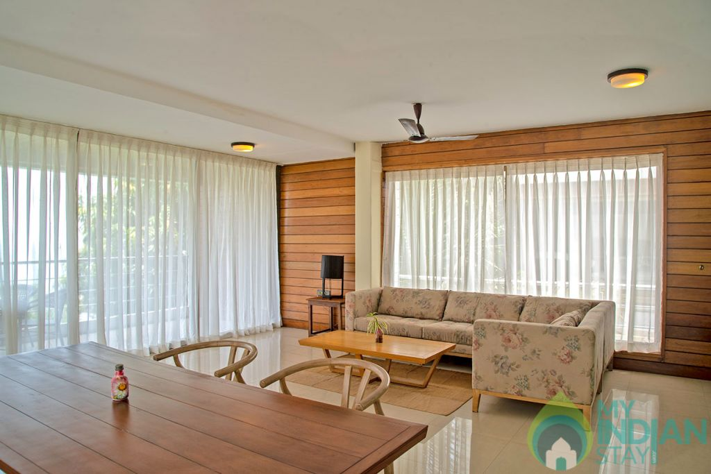 Living area in a Villa in Candolim, Goa