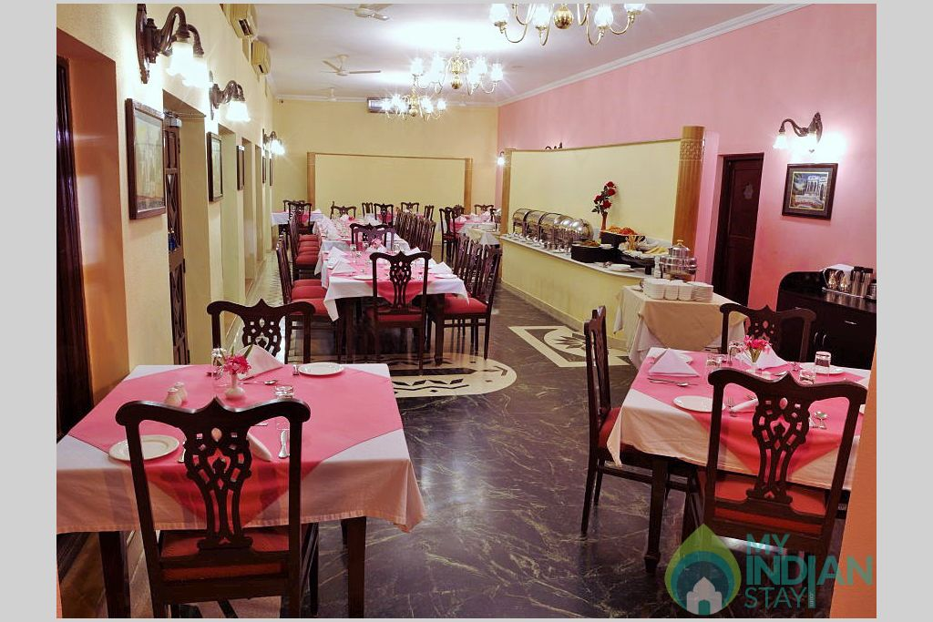 Dinning Area in a Hotel in Jaisalmer, Rajasthan